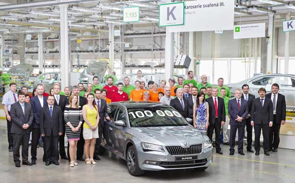 skoda superb one million