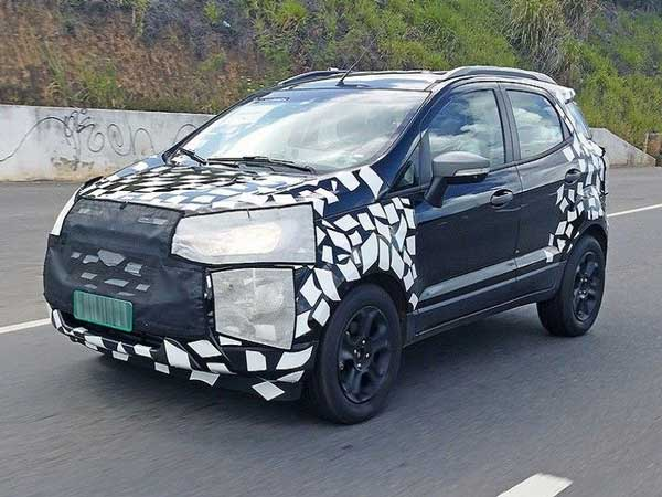 Ford: 2017 Facelifted EcoSport Spied