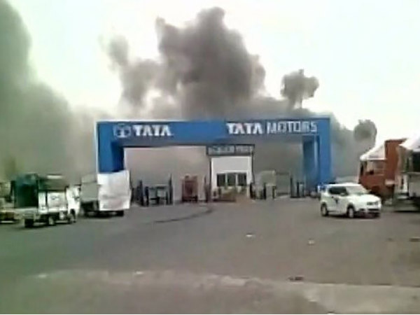 Fire Breaks Out In Tata Nano Plant In Sanand