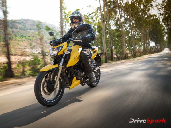 tvs apache rtr 200 4v ride and handling