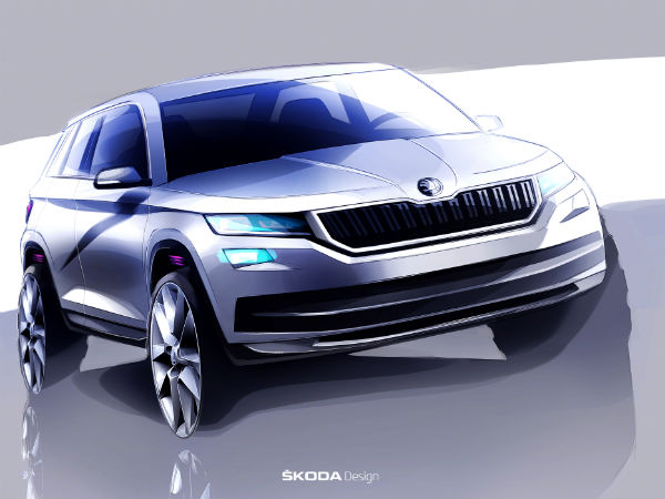 skodia kodiaq suv sketches revealed 1