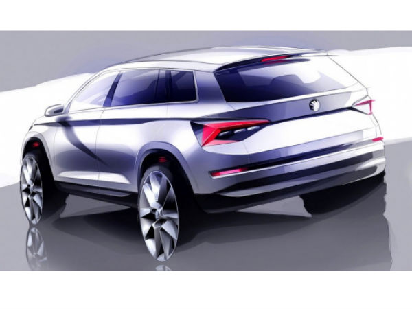 skodia kodiaq suv sketches revealed