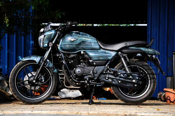 bajaj v15 motorcycle by eimor customs left profile