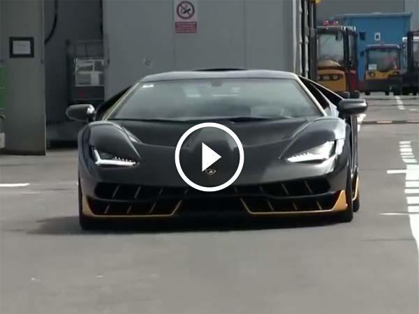 Ultra Rare Lamborghini Centenario Spotted On The Road For The First
