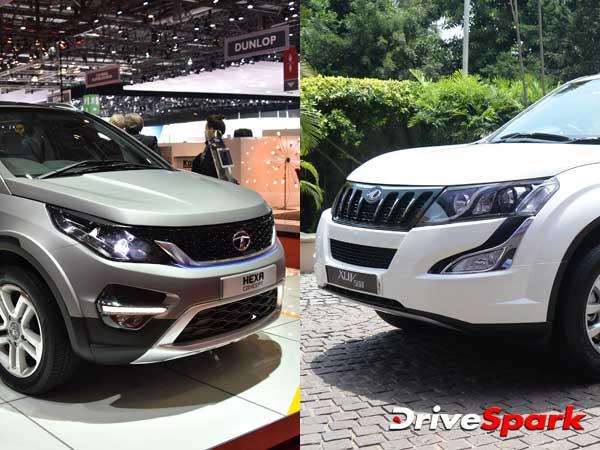Specification Comparison Tata Hexa Vs Mahindra Xuv500