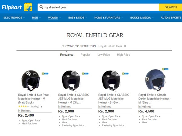 royal enfield gear available online