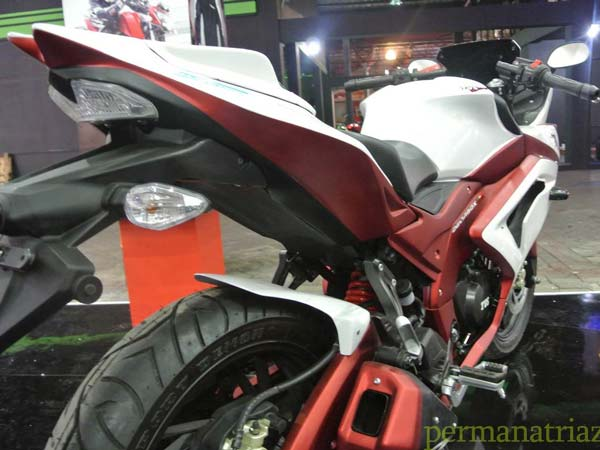 tvs apache rtr with full body fairing rear profile