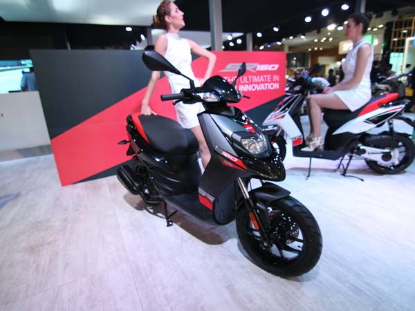 aprilia sr 150 bookings
