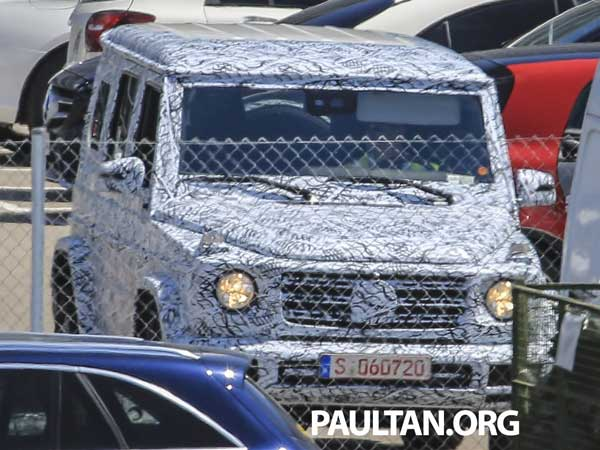 mercedes g-class spy pic