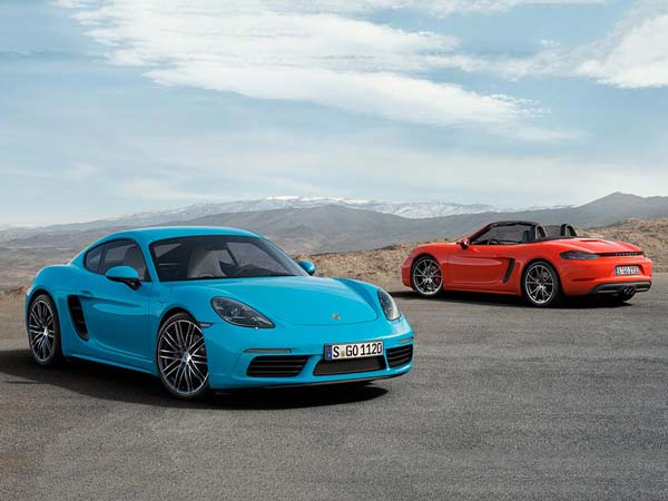 porsche 718 cayman and 718 boxster