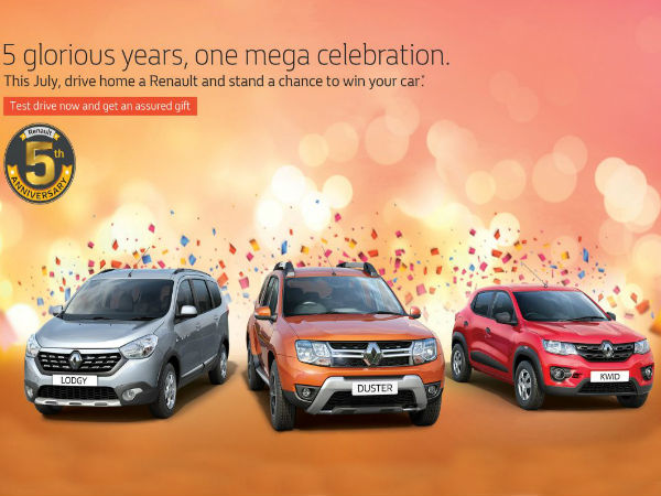 Renault India 5th Anniversary Celebration Offers Announced