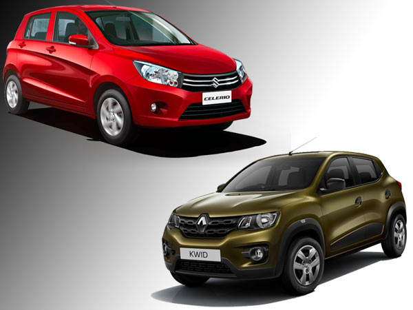Specification Comparison: Renault Kwid AMT vs Maruti Celerio AMT