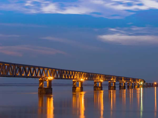 Longest Rail-Cum-Road Bridge In India