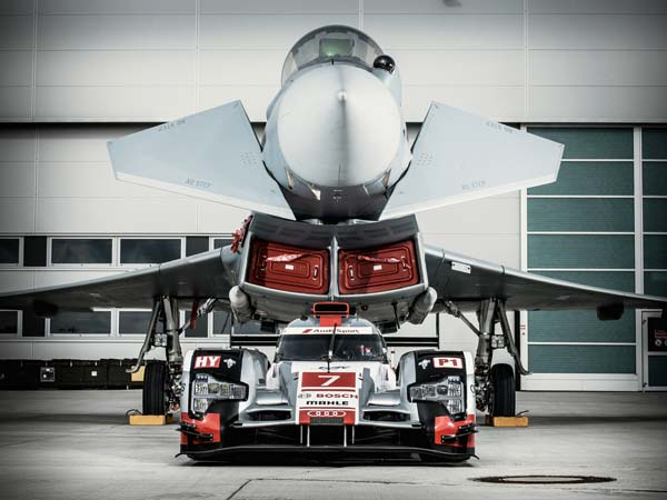 Audi R18 e-tron and Eurof-ghter Typhoon