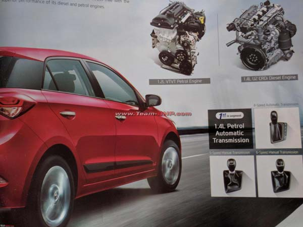 Hyundai Elite i20 AT Brochure Leaked; Reveals Full Specifications