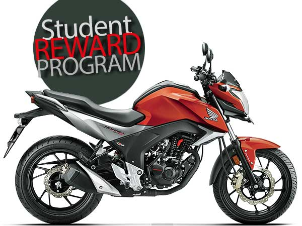 honda cb hornet 160r reward program