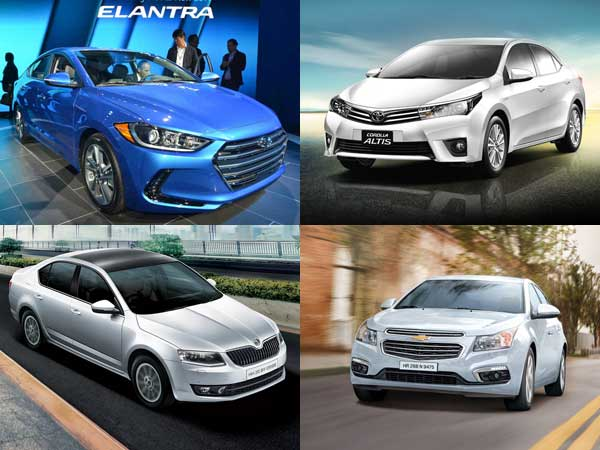 Hyundai Elantra Vs Toyota Corolla Altis Vs Skoda Octavia Vs Cruze