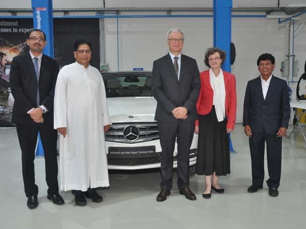 MercedesBenz Inaugurate Advanced Auto Body Repair Training Centre - Mercedes benz body repair centre