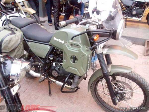Army Green Royal Enfield Himalayan Spotted At Dealership ...