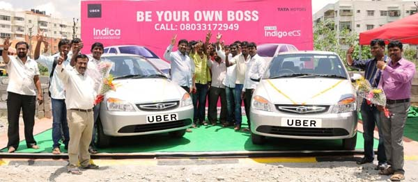 tata delivers 50 cars uber drivers