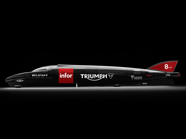 triumph infor rocket streamliner land speed record motorcycle