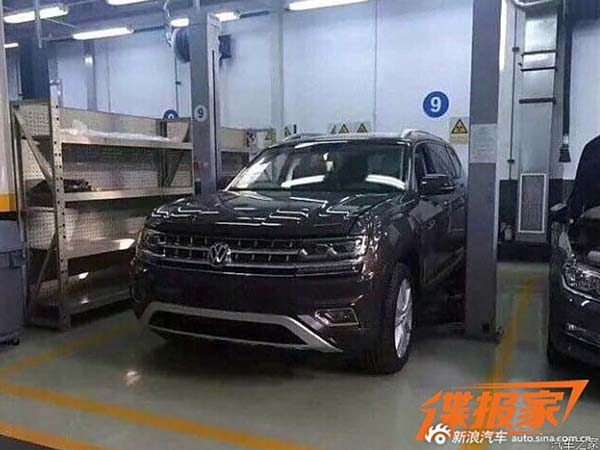 volkswagen teramont spy pic front profile