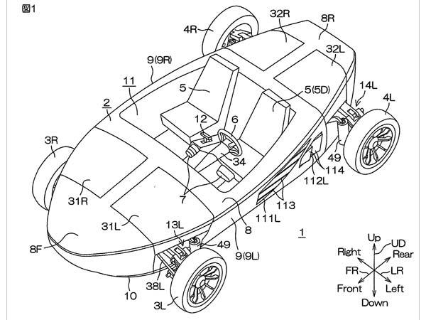 Yamaha Patents Amphibious Car