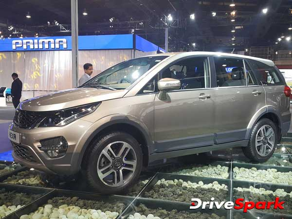 Tata Hexa During TV Commercial Shoot In Manali