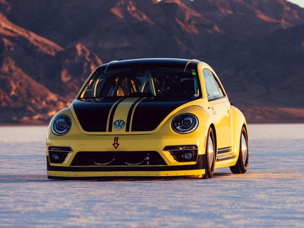 Now A Volkswagen Beetle Holds A Record At The Bonneville Salt Flats