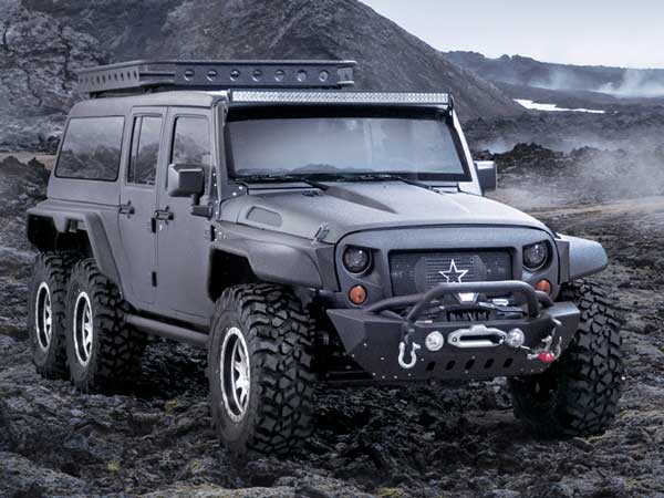 jeep wrangler 6x6 revealed in china drivespark. Black Bedroom Furniture Sets. Home Design Ideas