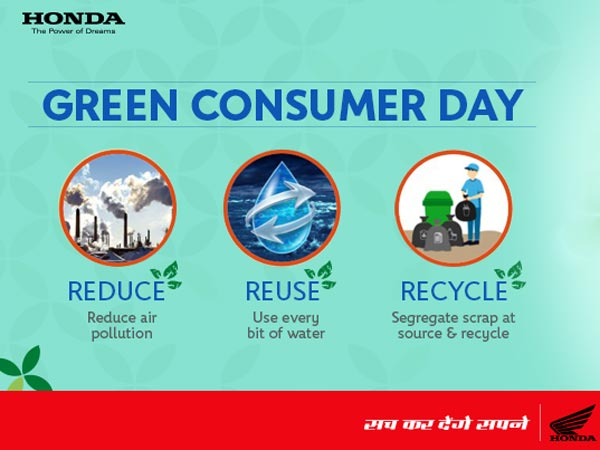 Green Consumer Day — Honda Two Wheeler Celebrates With Customers
