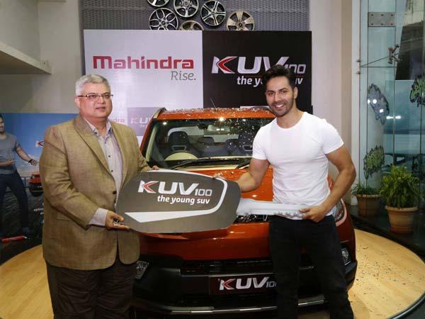 Mahindra KUV100 Gifted To Brand Ambassador Varun Dhawan ...