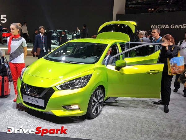 2016 Paris Motor Show: Nissan Reveals Pointy New 2017 Micra Hatchback