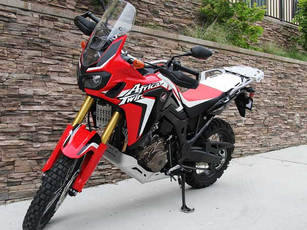 India Bound Honda Africa Twin With AltRider Skid Plate Looks Solid