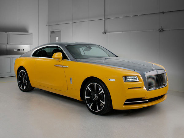 Rolls Royce Wraith Receives Golden Yellow Bespoke Paint