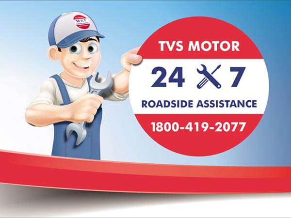 TVS To Offer Free Roadside Assistance For Two Wheeler Customers