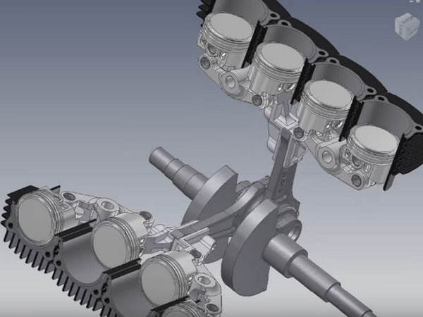 A V8 engine with new concept