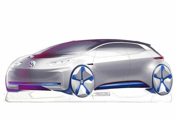 Volkswagen Reveals Electric Vehicle Design Sketches