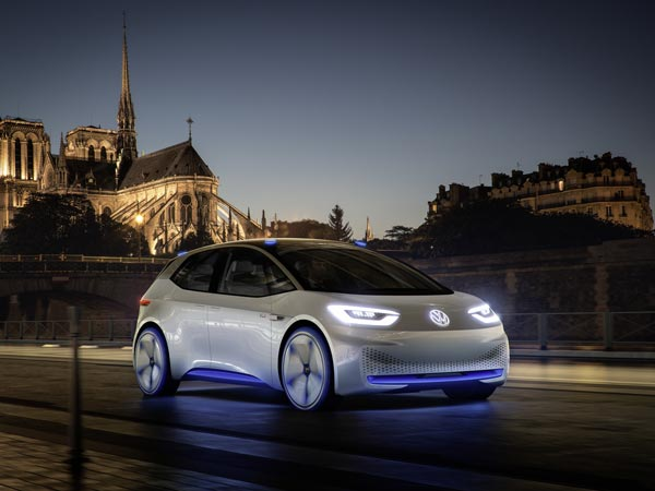 2016 Paris Motor Show: Volkswagen Previews Electric Future With I.D. Concept Electric Car