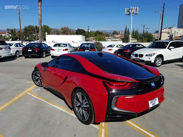 First Bmw I8 Protonic Red Edition Arrives At Dealership Drivespark