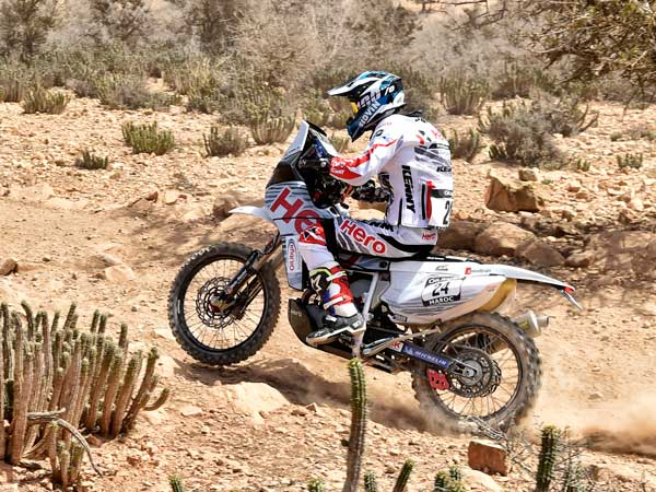 2016 Oilibya Rally Morocco Day 2 — Hero MotoSports Team And CS Santosh Move Up The Ladder
