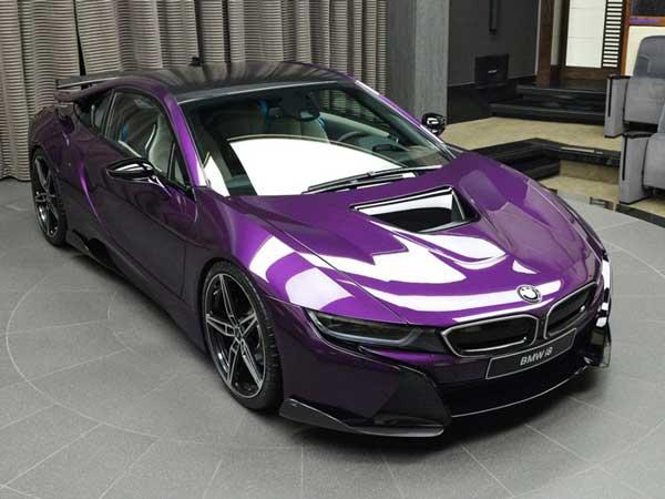 Bmw I8 In A Bespoke Twilight Purple Wrap By Abu Dhabi Dealership