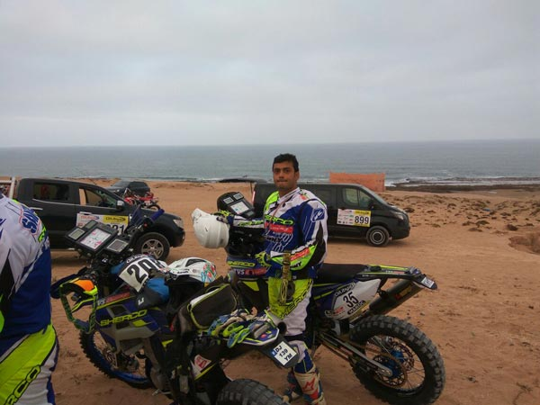 Oilibya Rally of Morocco Stage 2: TVS Sherco And KP Aravind Update