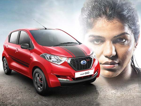 P.V. Sindhu Gifted A Datsun redi-GO Sport Edition
