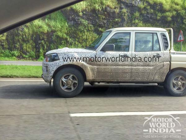 New-Gen Mahindra Scorpio Getaway Pickup Spied Testing In India