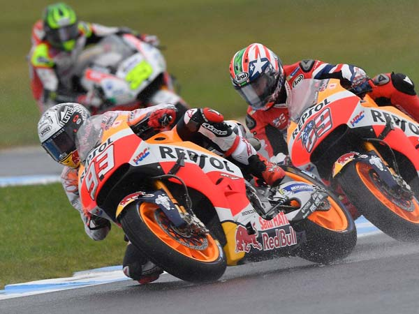 Slick Marquez Gamble Pays Off In Tricky Australian Qualifying Session