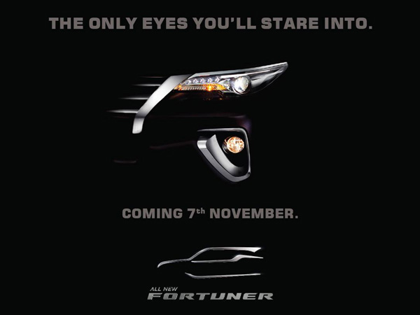 Toyota Teases New Fortuner Ahead Of Launch — It Stares Right At You