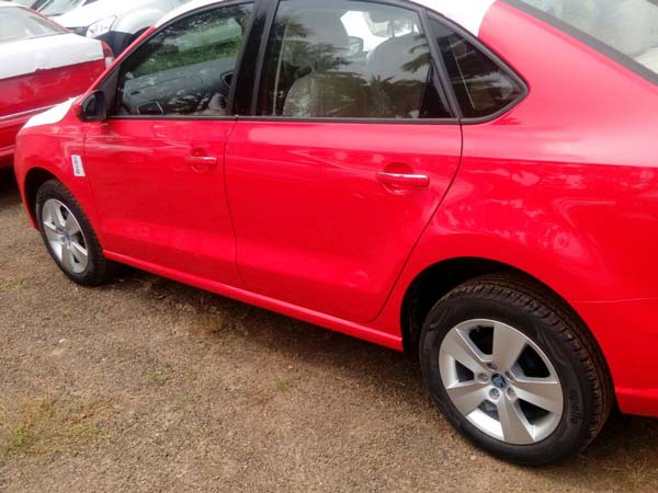 Spotted: 2017 Skoda Rapid Dressed In Red At Dealer Yard