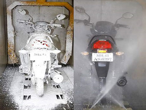 India's First Fully Automated Bike Wash Service