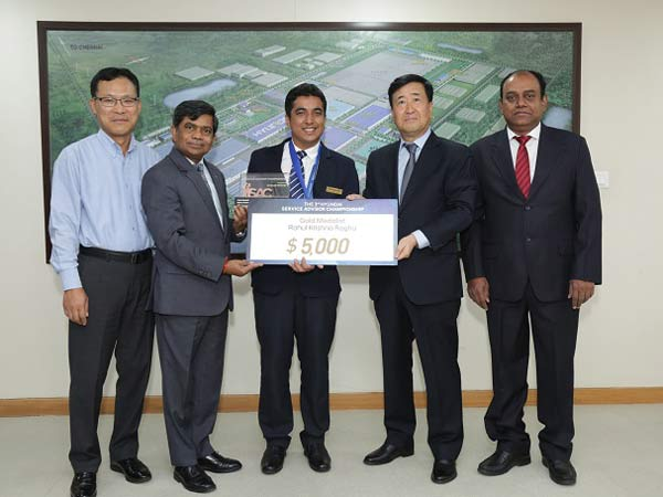 Hyundai Motor India Team Bags Gold At The 3rd World Service Advisor Championship